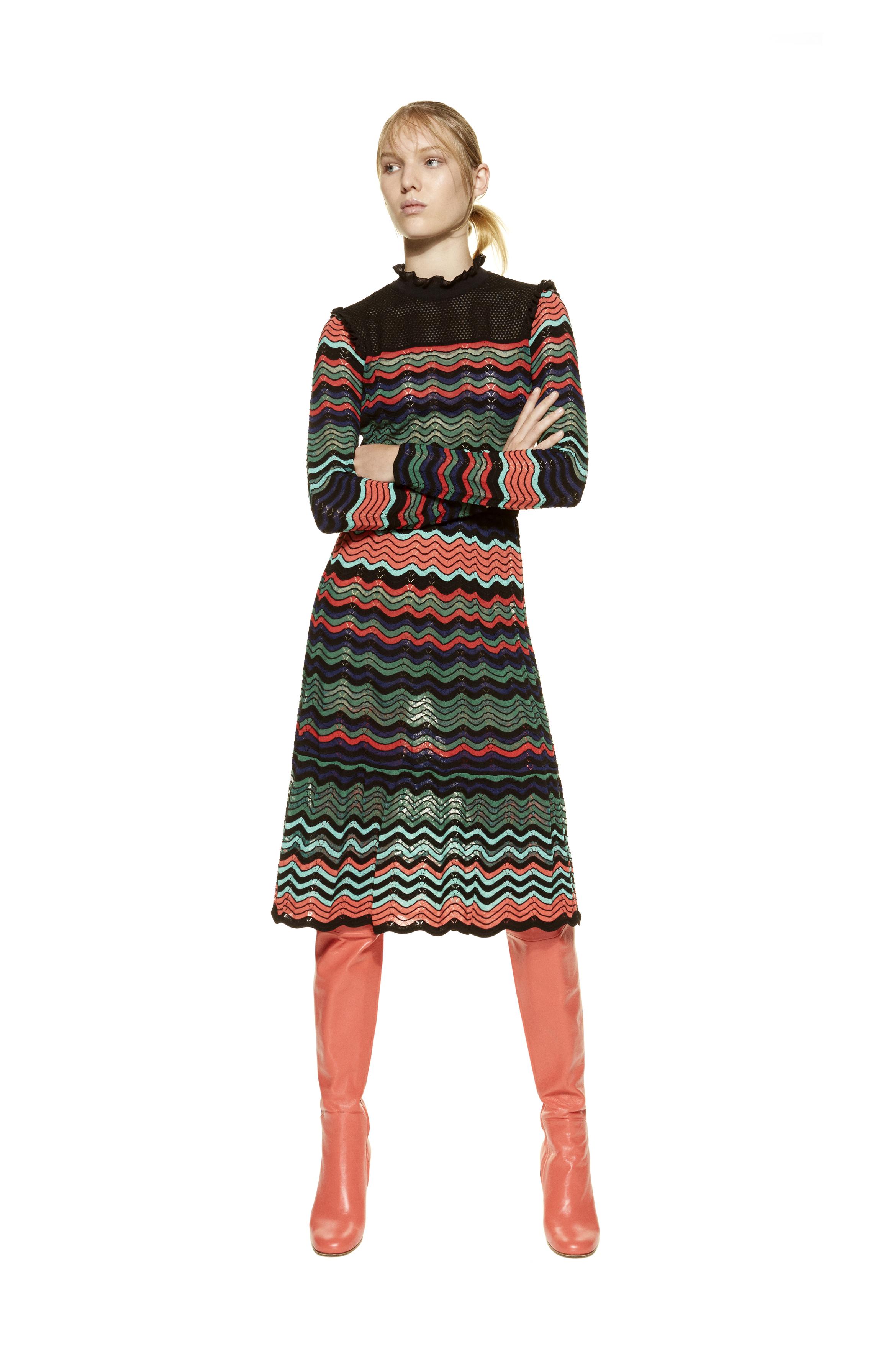 Модное трикотажное платье 2017